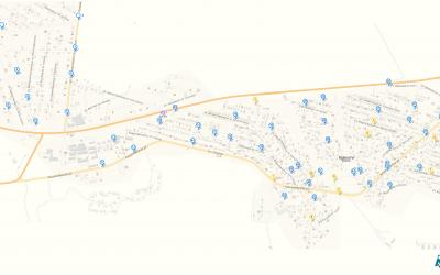 Harta camerelor de supraveghere în satul Budești