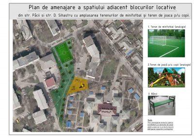 Amenajarea unui teren sportiv multifuncțional pe str. Păcii, or. Ialoveni