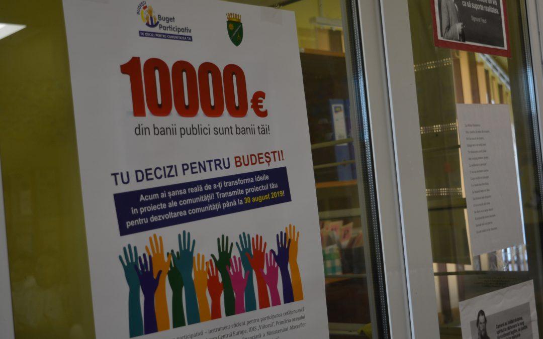 Raportul de evaluare pentru procesul de bugetare participativă în satul Budești